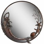 Mermaid & Sea Shells Round Mirror  **IN STOCK and Ships NOW**