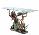 Mermaid & Dolphin Sofa Table