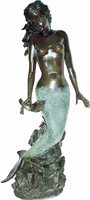 Kneeling Mermaid Water Fountain