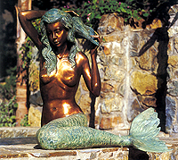 Bronze Patina Finish Mermaid Fountain (Large)