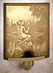 """Lithophane"" Translucent Porcelain Mermaid & Mirror Night light. Hand Crafted in the U.S.A. Artist: David Delamare"