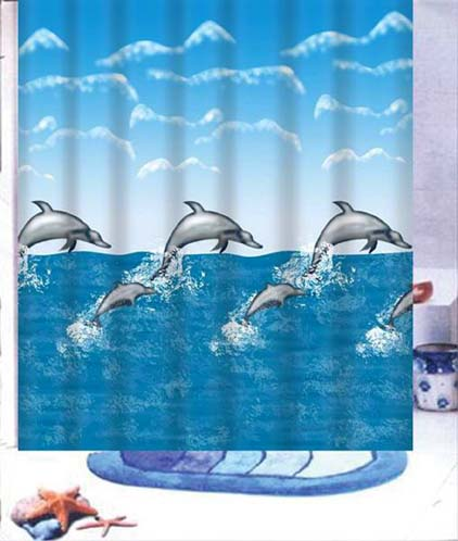 Mother Amp Baby Dolphin Shower Curtain Mermaids Unlimited